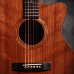 Image of Sinker Redwood and Walnut Guitar, front